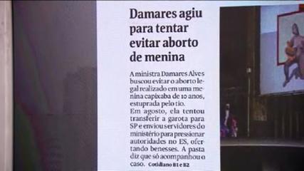 Folha: ministra Damares Alves agiu para impedir aborto de menina de 10 anos