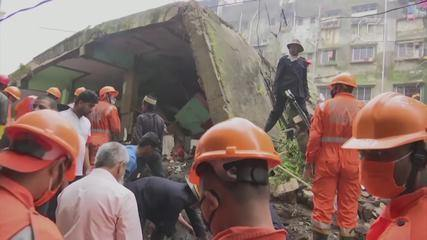 Desabamento de prédio deixa mortos e feridos na Índia
