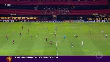 Com gol do Brocador, Sport bate o Fluminense e dá um salto na tabela da Série A