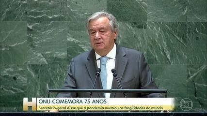 ONU comemora 75 anos e destaca que pandemia revelou fragilidades do mundo