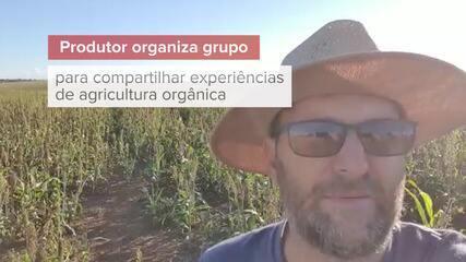 Produtor organiza grupo para compartilhar experiências de agricultura orgânica