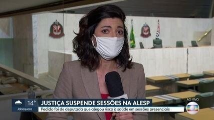 Justiça suspende sessões presenciais na Alesp