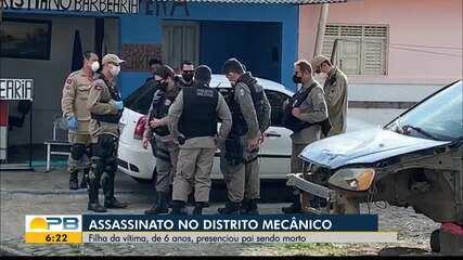 Homem é morto a tiros e filha de 6 anos presencia pai sendo morto, em João Pessoa