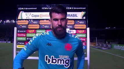 Fernando Miguel diz que Vasco poderia explorar mais a velocidade para buscar vitória no clássico