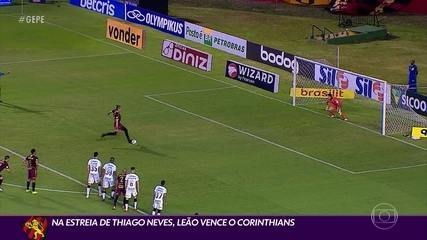 Sport vence o Corinthians na estreia de Thiago Neves e se firma na Série A