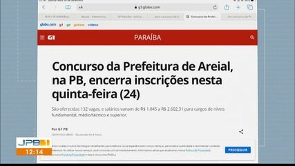 Três concursos estão abertos, na Paraíba