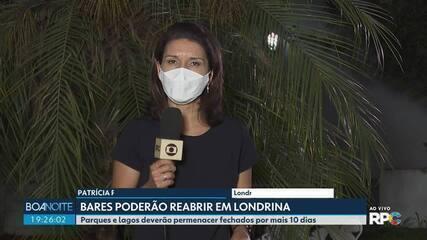 Bares poderão reabrir em Londrina