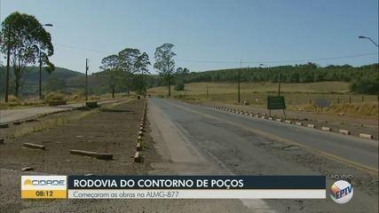 Obras na Rodovia do Contorno têm início em Poços de Caldas, MG