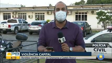Bandidos assaltam casas nos bairros Gramame e Castelo Branco, em João Pessoa