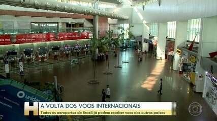 Aeroportos brasileiros vão poder receber voos internacionais