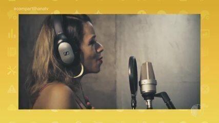 A cantora pop, Ohanna, solta a voz no 'Compartilha'