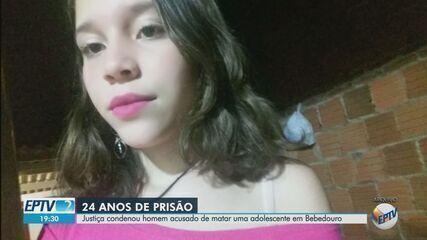 Jovem é condenado a 24 anos de prisão por morte de adolescente em Bebedouro, SP