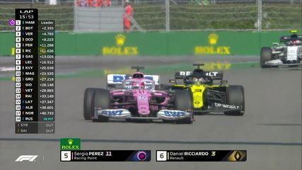 Pérez ultrapassa Ricciardo e assume a quina colocação no Gp da Rússia