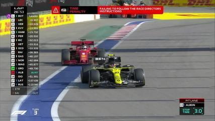 Ricciardo ultrapassa Vettel, mas recebe punição de 5 segundos no GP da Rússia