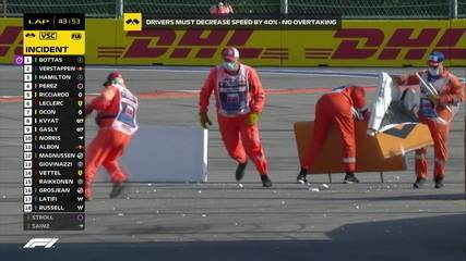 GP da Rússia tem safety car virtual para reposição de placas destruídas por Grosjean