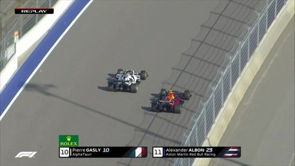 Gasly ultrapassa Albon e assume a décima colocação no GP da Rússia