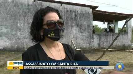 Mulher é surpreendida por bandidos e morta na porta de casa, em Santa Rita
