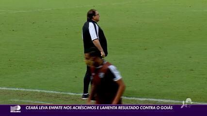 Ceará leva empate nos acréscimos e lamenta resultado contra o Goiás