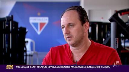 Mil dias de Ceni: técnico do Leão revela momentos marcantes e fala sobre futuro