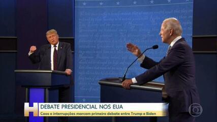 Caos e interrupções no primeiro debate entre Trump e Biden