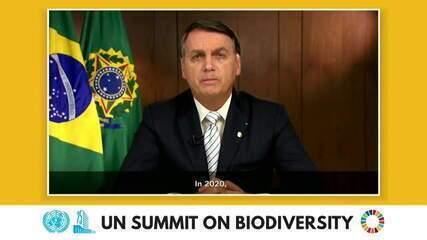 Bolsonaro crítica 'informações falsas' sobre Amazônia na ONU