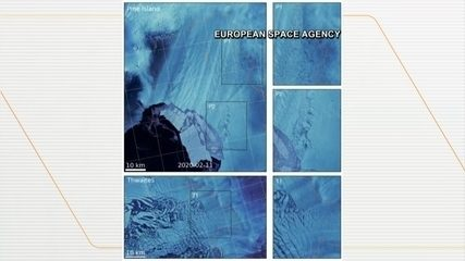 Vídeos mostram derretimento de geleiras na Antártica