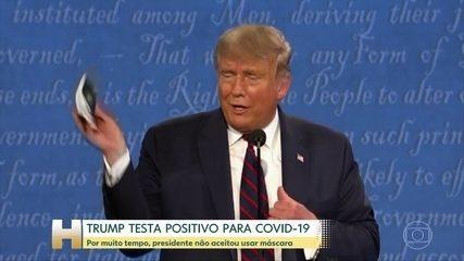 Trump anuncia que ele e Melania testaram positivo para Covid; ele tem 'sintomas leves'