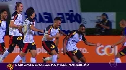 """Na base do """"Venturismo"""", Sport vence Bahia e sobe para o 5º lugar no Brasileirão"""