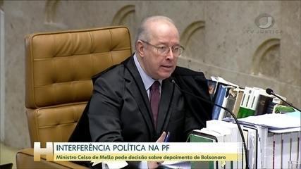 Celso de Mello pede que Fux marque julgamento sobre depoimento de Bolsonaro