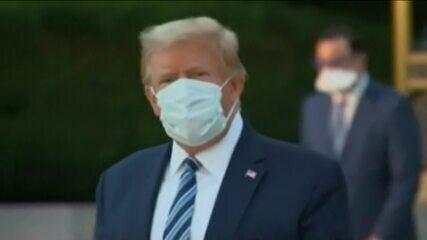 Trump deixa o hospital após 72 horas internado