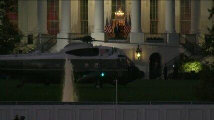 Donald Trump chega à Casa Branca após três dias internado