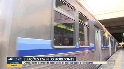 Análise do G1 aponta metrô e ciclovias como prioridade de candidatos à Prefeitura de BH