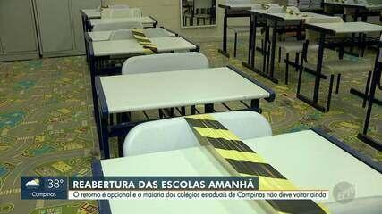 22 escolas estaduais de Campinas retomam atividades presenciais nesta quarta