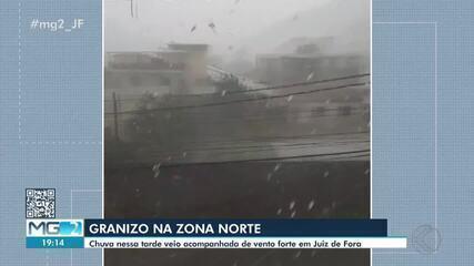 Corpo de Bombeiros registra ocorrências após chuva de granizo em Juiz de Fora
