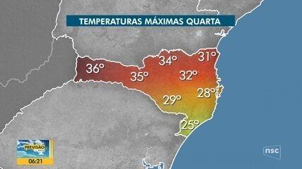 Confira a previsão do tempo em SC nesta quarta-feira