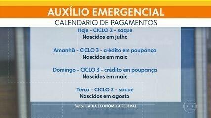 Caixa Econômica paga mais um lote do Auxílio Emergencial nesta quinta-feira (8)