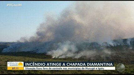 Bombeiros e brigadistas lutam para conter queimadas na Chapada Diamantina e no oeste da BA