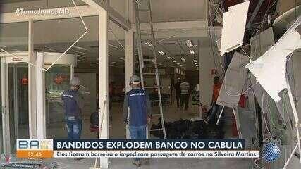 Bandidos atacam agência bancária no bairro do Cabula; moradores relatam momentos de tensão