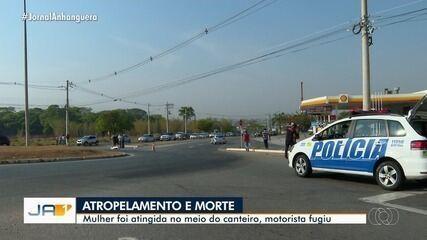 Mulher morre após ser atropelada em Goiânia