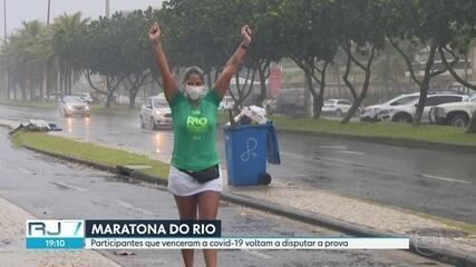 Participantes que venceram a Covid-19 voltam a disputar a Maratona do Rio