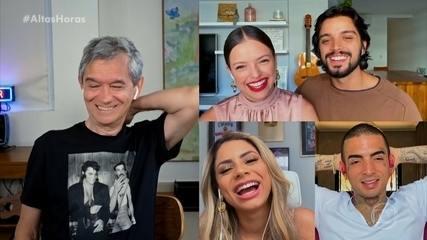 Agatha Moreira com Rodrigo Simas e Lexa com Mc Guime participam do Altas Horas