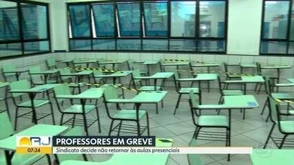 Sindicatos dos professores decidem não retomar aulas presenciais