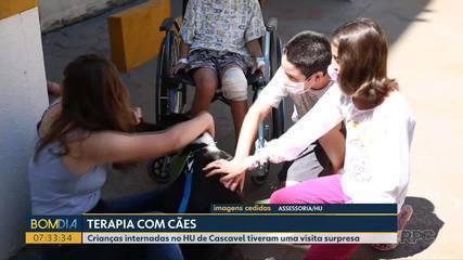Crianças internadas no HU de Cascavel tiveram uma visita surpresa