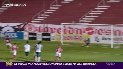 Vila Nova vence o Manaus de virada e mantém boa campanha na Série C