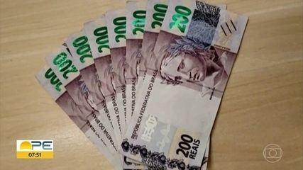 Polícia Federal apreende R$ 1,6 mil em notas falsas de R$ 200