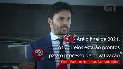 Privatização dos Correios pode ocorrer em 2021, diz Fabio Faria