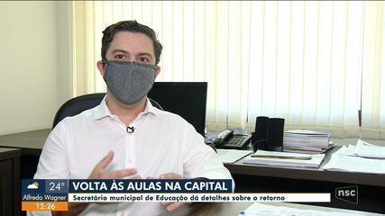 Florianópolis divulga planejamento para retorno das aulas presenciais