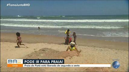 Prefeitura anuncia liberação da praia de Piatã, em Salvador
