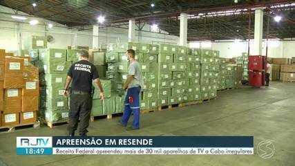 Operação em Resende apreende mais 30 mil aparelhos para acesso clandestino a canais de TV