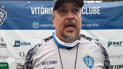 Técnico do Vitória-ES fala sobre viradas da equipe na Série D